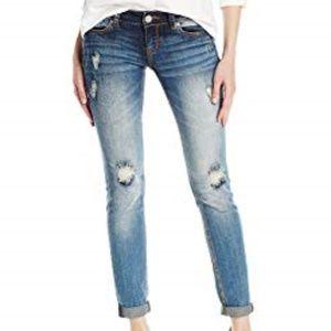 Grace In La Plain/Distressed Skinny Jeans